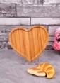 Bayev Ahşap Bambu Küçük Kalp Çerezlik Renkli